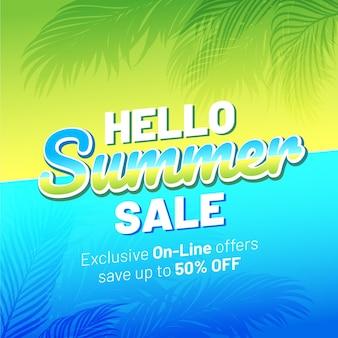 Gradient bonjour illustration de vente d'été