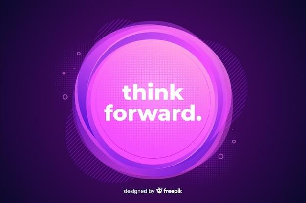 Gradient cercle violet avec de petits cercles autour
