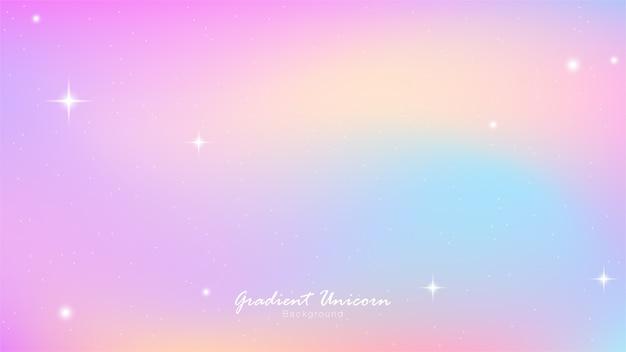 Gradient coloré ciel licorne