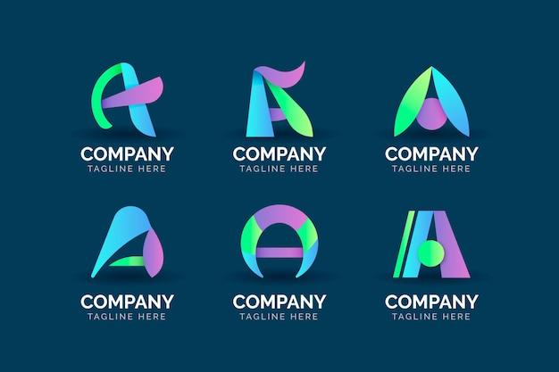 Gradient coloré un modèles de logo