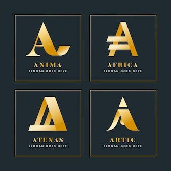 Gradient créatif une collection de logo