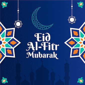 Gradient eid al-fitr - illustration eid mubarak
