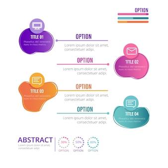 Gradient de forme abstraite infographique