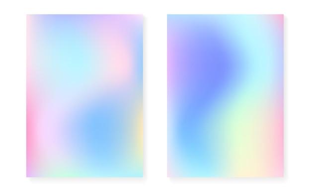 Gradient holographique serti de couverture holographique.