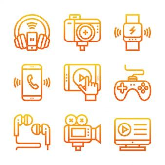 Gradient d'icône de linel électronique