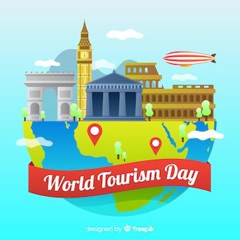 Gradient de la journée mondiale du tourisme