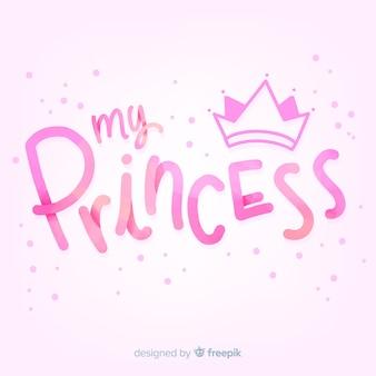 Gradient lettrage fond de princesse
