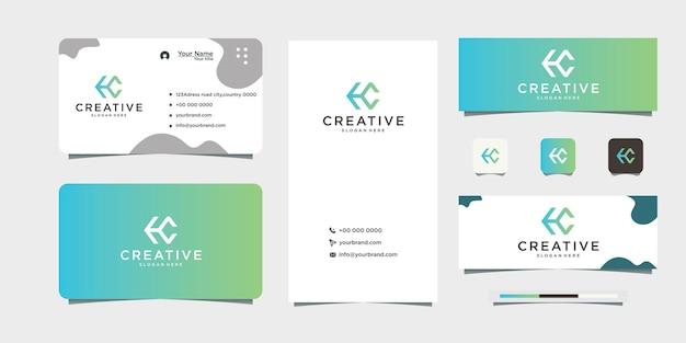 Gradient lettre c icône design logo et carte de visite