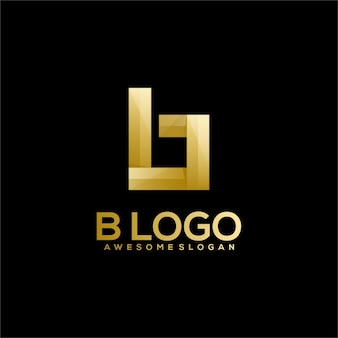 Gradient de logo de luxe lettre b