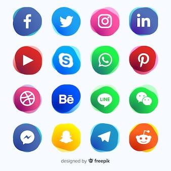 Gradient médias sociaux logo collectio