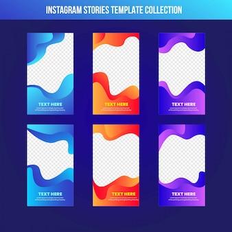 Gradient de modèles de bannière de vente histoires instagram
