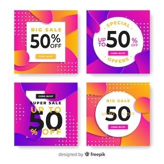 Gradient sale instagram post collection