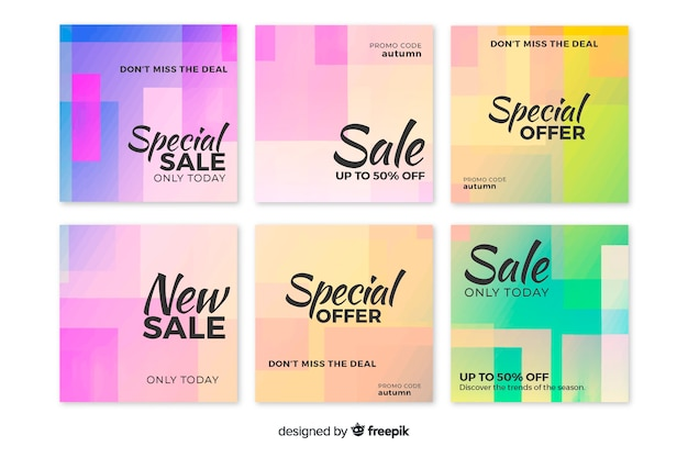 Gradient sale instagram post collection