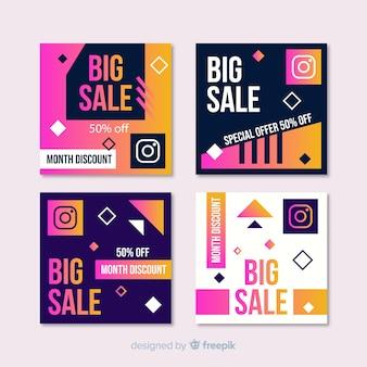 Gradient sale instagram post pack