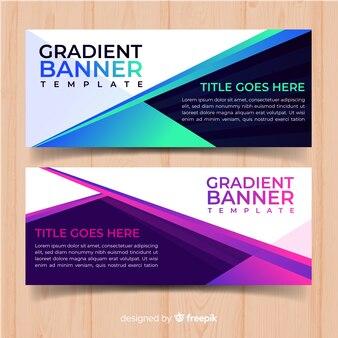 Gradient web banners
