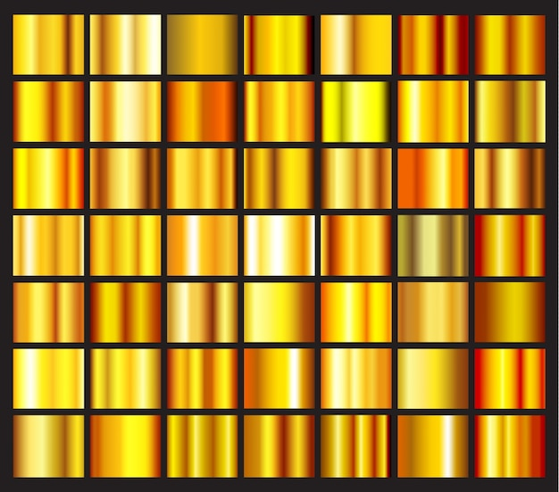 Gradients d'or collectio