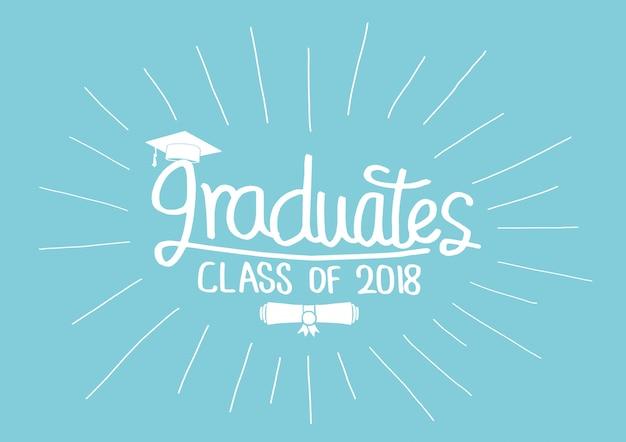 Graduation class of 2018 jeu de cartes de voeux