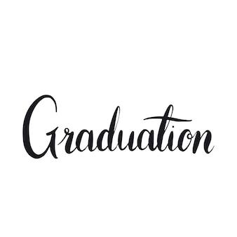 Graduation concept typographie style vecteur