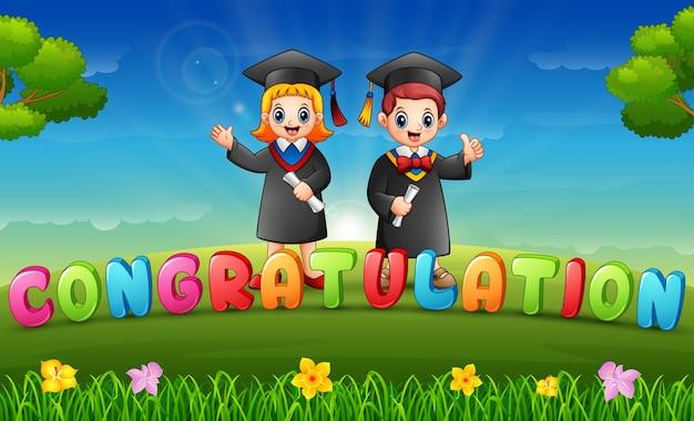 Graduations d'enfants le matin