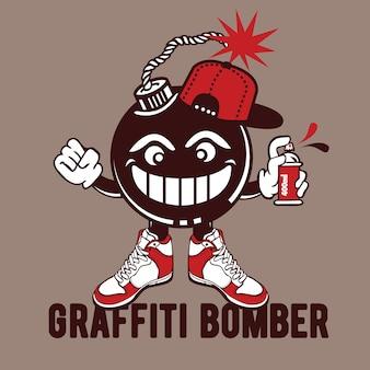 Graffiti bomber character design