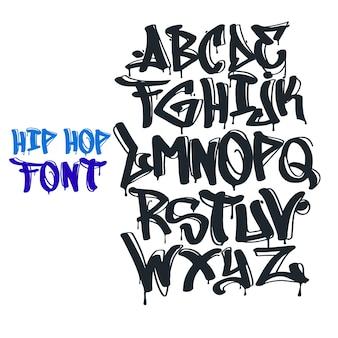 Graffiti font vecteur