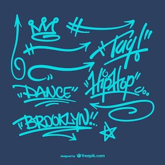 Graffitis pack vecteur