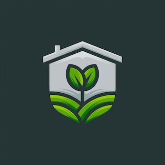 Graine, pousse, vecteur de conception de logo agriculture