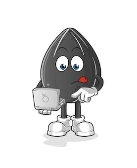 Graines de tournesol avec conception d'illustration pour ordinateur portable