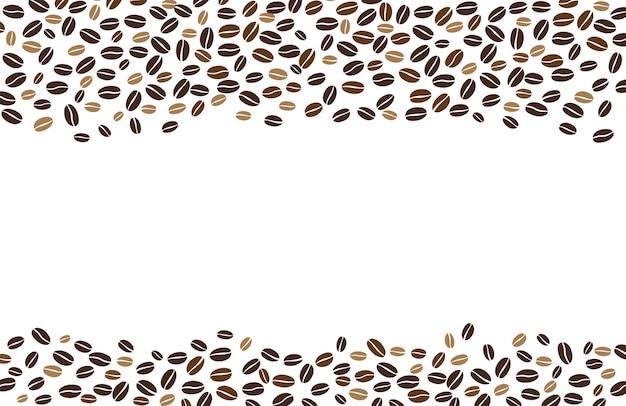 Grains de café isolés sur fond blanc fond avec un espace pour l'écriture de texte