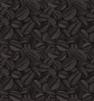 Grains De Café Sans Soudure Vecteur Premium