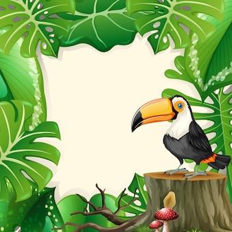 Grand cadre de forêt toucan