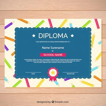 Grand certificat d'études de crayons de couleurs différentes