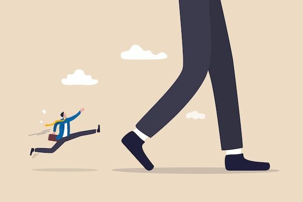 Grand chef d'entreprise, avantage concurrentiel pour diriger et augmenter le concept de part de marché.