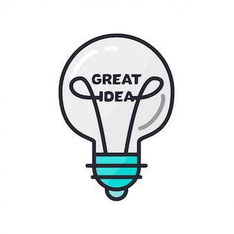 Grand concept d'idée