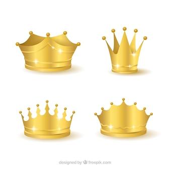 Grand ensemble de couronnes réalistes