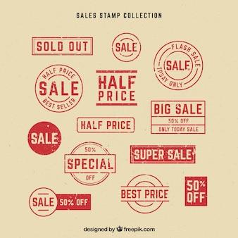 Grand ensemble d'étiquettes avec des offres spéciales