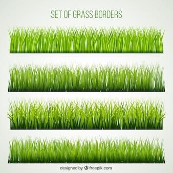 Grand ensemble des frontières de l'herbe