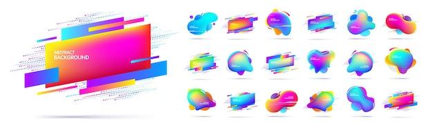 Grand ensemble de géométriques multicolores modernes abstraits