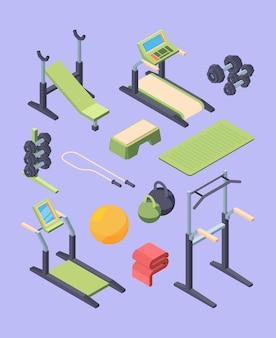 Grand ensemble isométrique d'équipement de fitness