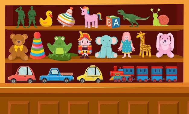 Grand ensemble de jouets colorés pour enfants