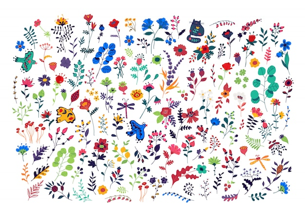 Grand ensemble de motif de fleurs.