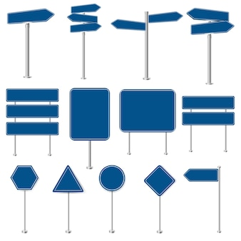 Grand ensemble de panneaux d'arrêt et de panneaux de signalisation