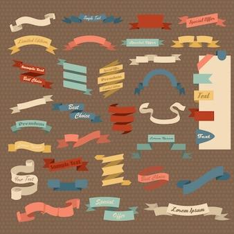 Grand ensemble de rubans colorés