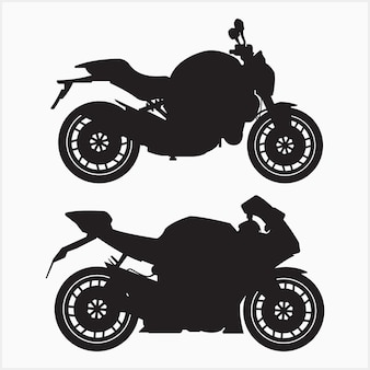 Grand ensemble de silhouette de vélo