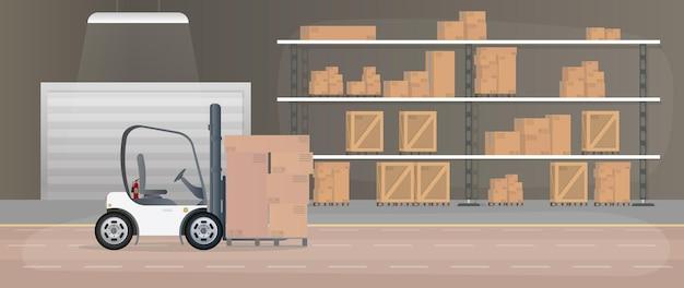 Grand entrepôt avec tiroirs.
