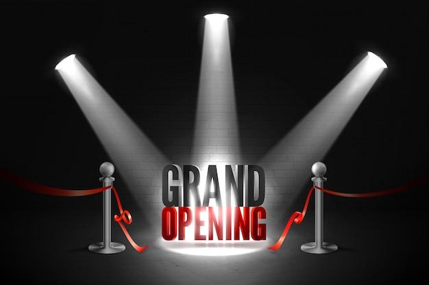 Grand événement d'ouverture sous les projecteurs