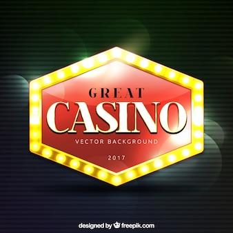 Grand fond de casino avec effet bokeh