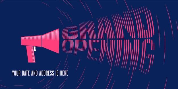 Grand fond d'ouverture