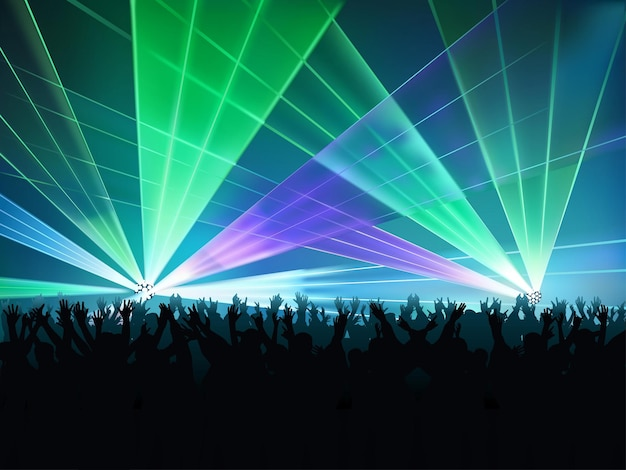 Grand fond de spectacle laser