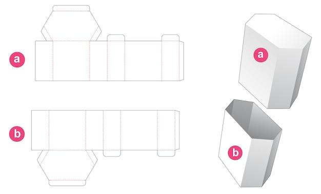 Grand gabarit de découpe hexagonale et couvercle